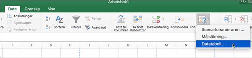 Alternativet Datatabell