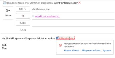 Visar användarvänliga namn på länkar för bifogade dokument