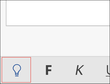 Klicka på glödlampan för att aktivera Berätta-funktionen