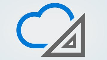 Symboler för moln och arkitektur