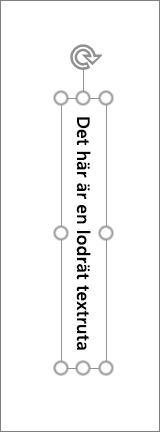Lodrät textruta med lodrät text