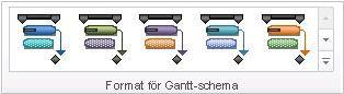Bild på gruppen Gantt-schemaformat
