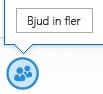 Skärmdump av ikonen Bjud in fler personer i snabbmeddelandefönstret