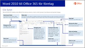 Miniatyr av guide för att övergå från Word 2010 till Office 365
