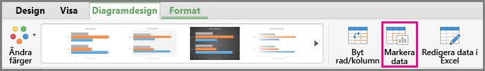 Office för Mac, diagram för att välja data