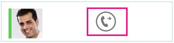 Skärmdump av vidarebefordringsknappen i sökfunktionen