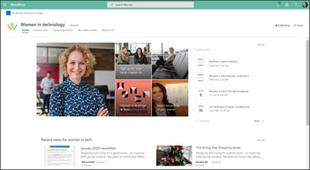 Exempel på Community-webbplats