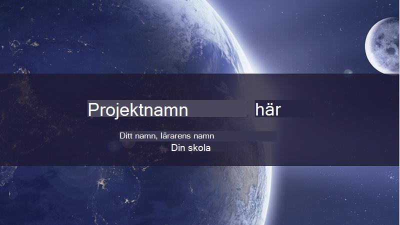 Skärmbild av ett omslag på en rapport om solsystemet