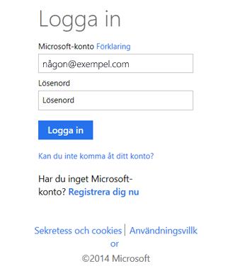 logga in hotmail