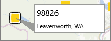Postnummernotering på en PowerMap