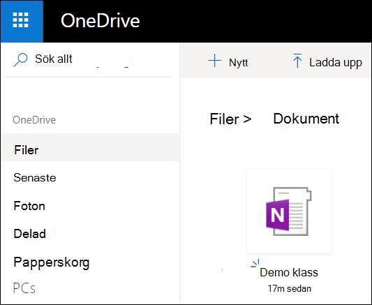 OneDrive-dokumentmapp för Microsoft-konto