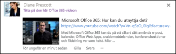 YouTube-videoklipp med visningstext