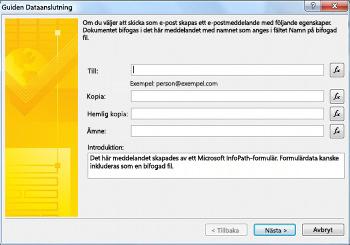 Skicka och spara formulärdata