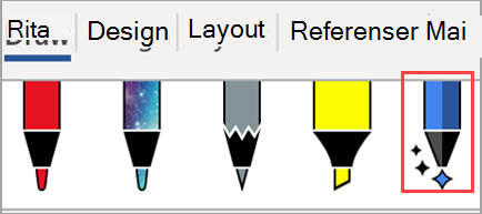 Visar ritverktyg