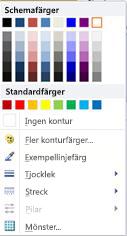 WordArt-form som visar formateringsalternativ i Publisher 2010