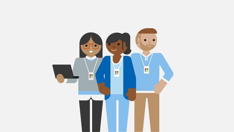 En illustration av supporttekniker