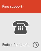 Ring support (endast administratörer)