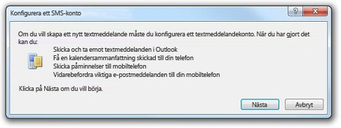 Konfigurera ett SMS-konto