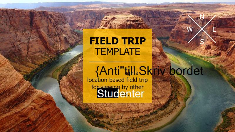 Skärmbild av omslaget för en virtuell fältresa-presentation