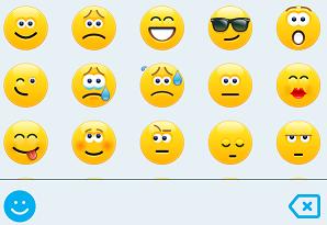 uttrycks symboler i Skype för företag för iOS och Android