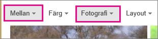 Bildsökningsresultat i Bing filtrerade till medelstora foton