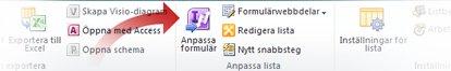 Anpassa formulär med InfoPath