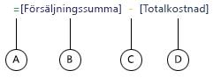 Formel för beräknad kolumn