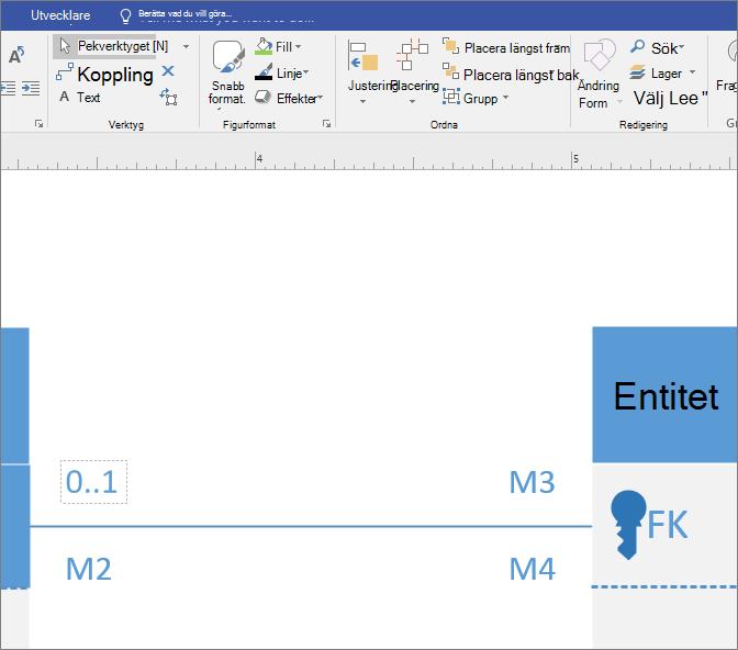 Klicka på det första fältet multiplicitet och anger i textrutan värde.