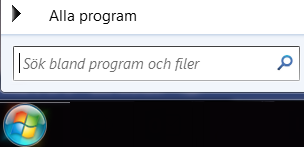 Skärmbild med programsökning