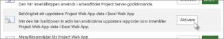 Uppdatera Project Web App-behörighet för Excel Online