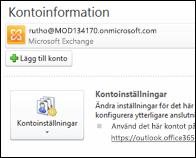 Lägg till ett nytt e-postkonto i Outlook 2010