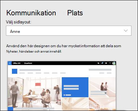 Använda en design på en SharePoint-webbplats
