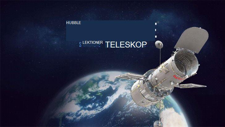 Skärmbild av en presentation om Hubbble-teleskopet