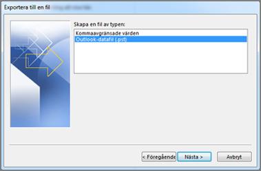 Exportera till en datafil