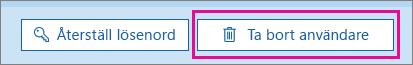 Ta bort en användare i Office 365