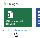 Förhandsgranska bifogade Office-filer i Outlook Web App