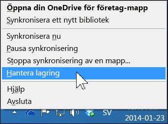 Hantera din OneDrive för företag-lagring