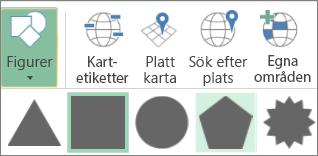 Alternativet Former för 3D-kartor