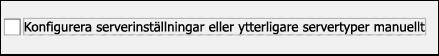 Välj manuell konfiguration för e-post från Gmail