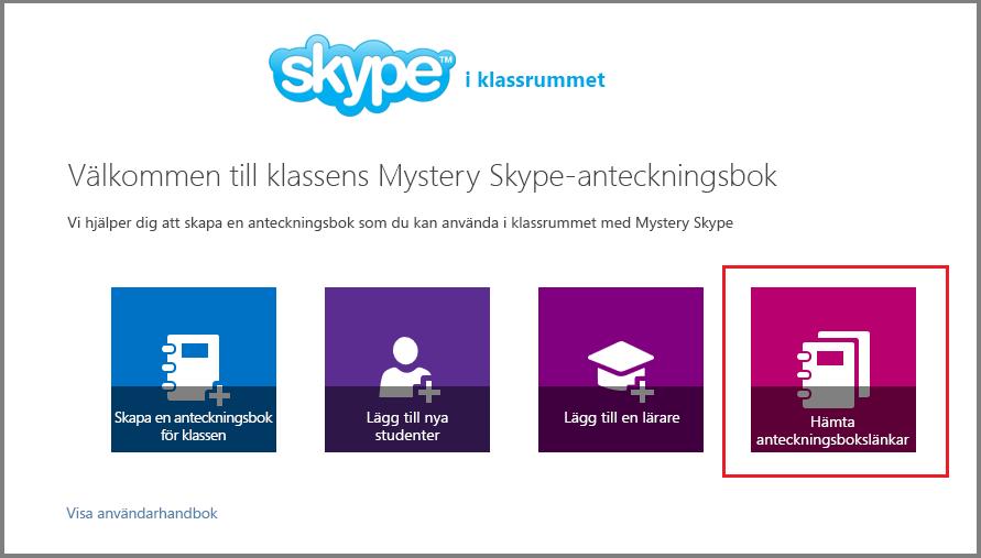 Få länkar i Mystery Skype