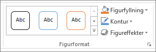 Gruppen figur format i PowerPoint