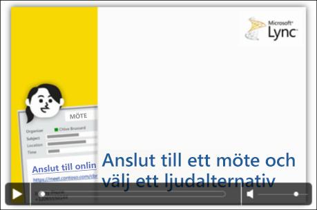 Skärmdump av PowerPoint-bild med videokontroller