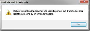 Meddelande om att filen är låst av någon annan