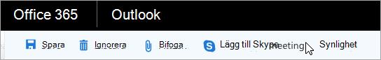 Lägg till Skype-möte till din e-post