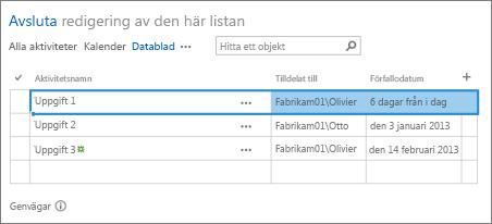 Databladsvy