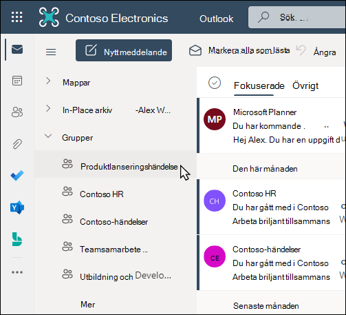 Office 365-grupper i Outlook