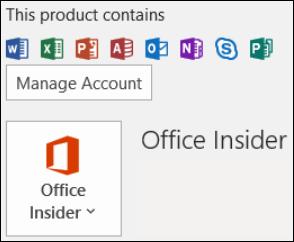 Gå till Fil > Office-konto för att se din Outlook-version.