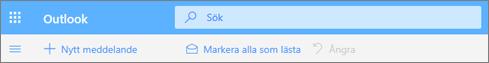 En skärmbild visar Sökrutan i Outlook.com.