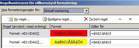 Regler för villkorsstyrd formatering