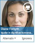 Skärmbild av dialogrutan för snabbmeddelandeförfrågan
